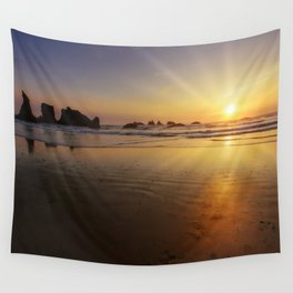Sunset over the Pacific  Wall Tapestry