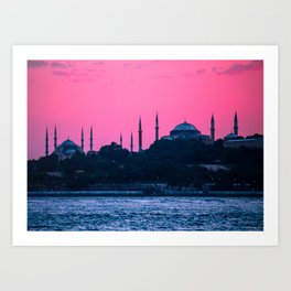 Istanbul Sultanahmed and Ayasofya Mosques Art Print