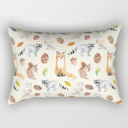 Woodland Critters Rectangular Pillow
