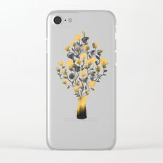 Golden Flower In A Vase Clear iPhone Case