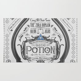 Legend of Zelda Blue Chu Potion Advertisement Rug