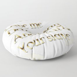 Just Fear Me (white bg) Floor Pillow