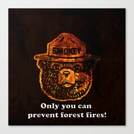Smokey the Bear Canvas Print