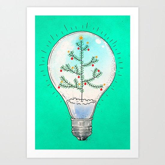 Christmas lamp Art Print