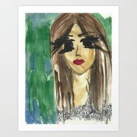 bianca green Art Prints featuring green. by Bianca Venessa