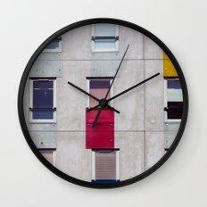 eastern european apartments in colour Wall Clock