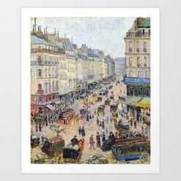 """Camille Pissarro """"La Rue Saint-Lazare, temps lumineux"""" Art Print"""