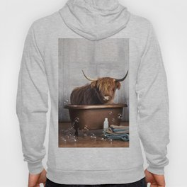 Highland Cow in the Tub Hoody
