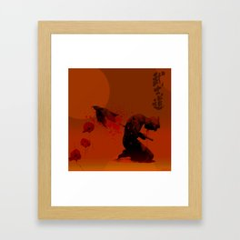 Seppuku ( Hara Kiri) The liberation of the spirit of the samurai Framed Art Print