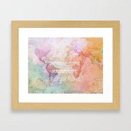 Let's Go Everywhere Framed Art Print