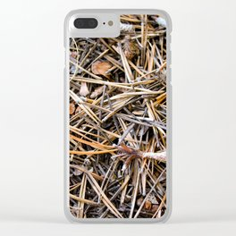 pine needles in yosemite Clear iPhone Case