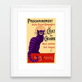 Cheshire Cat 'chat noir' poster Framed Art Print