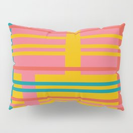 Color Blocks (Colorful Stripe Pattern) (13-Nov-17) Pillow Sham