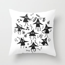 Magical Little Witches Throw Pillow