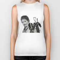 daryl Biker Tanks featuring Daryl Dixon by Brittany Ketcham