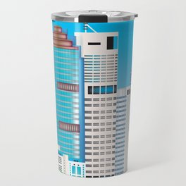 Brisbane, Australia - Skyline Illustration by Loose Petals Travel Mug