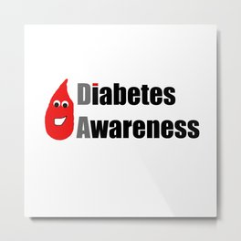 Diabetes Awareness Metal Print
