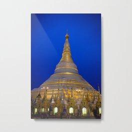 Shwedagon Pagoda, Yangoon Myanmar Metal Print