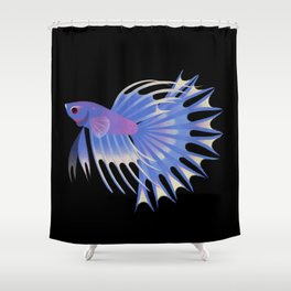 Two crowntail bettas Shower Curtain
