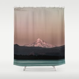 Pastel Peak - Mt. Hood over the Columbia Shower Curtain