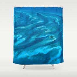 Dramatic Blue Ocean Waves Shower Curtain
