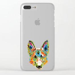 Art Splash German Shepherd print Gift Artistic Dog product Clear iPhone Case