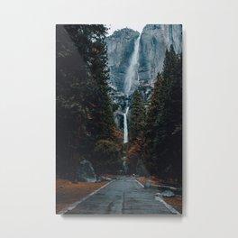 Upper and Lower Yosemite Falls Metal Print