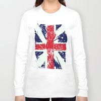 union jack Long Sleeve T-shirts featuring Union Jack  by UrbanCandy