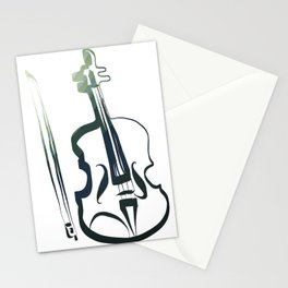 violin by Leslie Harlow Stationery Cards