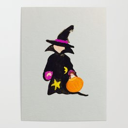 Witch Sorcerer October Halloween Trick or Treat Toddler Poster