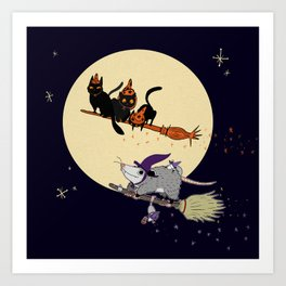 Witches' Familiars? Art Print