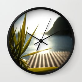 Sunset at Plage Mala Wall Clock
