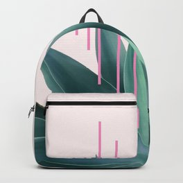 Agave geometrics II - pink Backpack