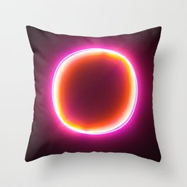 Neon Circle Throw Pillow