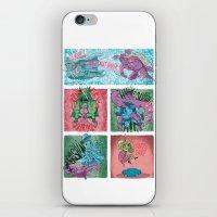 superheroes iPhone & iPod Skins featuring Superheroes SF by James Burlinson