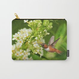 The Hummer and the Butterfly Bush Carry-All Pouch