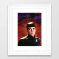 spock Framed Art Prints featuring -Spock- by JEUDI