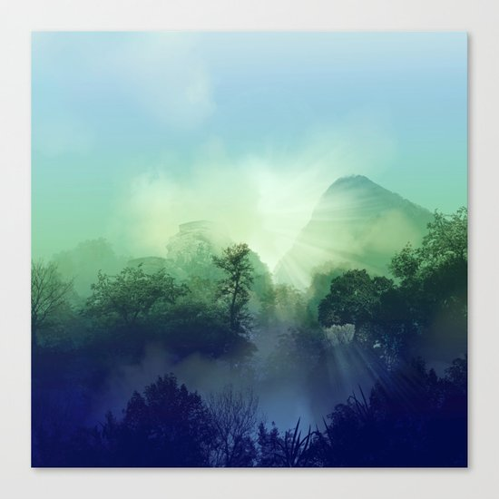 tropical green forest Canvas Print
