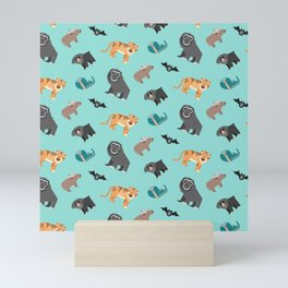Jungle animals wilderness pattern tropics tropical Mini Art Print