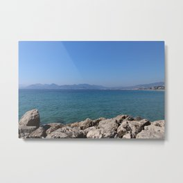 Overlooking the Beach of Cannes, France Metal Print