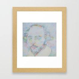 WILLIAM SHAKESPEARE - watercolor portrait Framed Art Print