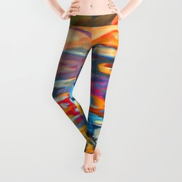 My Village | Colorful Small Mountainy Village Leggings