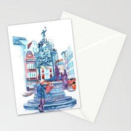 Glove Market Area (De Handschoenmarkt Antwerpen) Stationery Cards