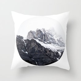 mountain fog Throw Pillow