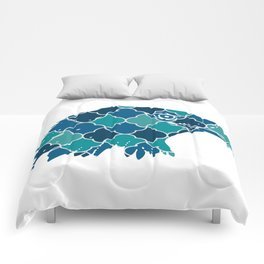 EAGLE SILHOUETTE HEAD WITH PATTERN Comforters