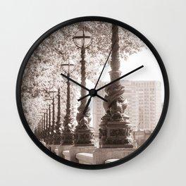 Leafy Promenade Wall Clock