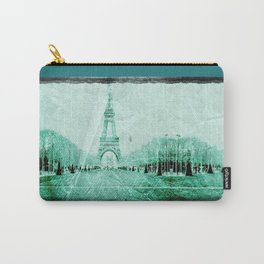 Vintage Paris - Teal Carry-All Pouch