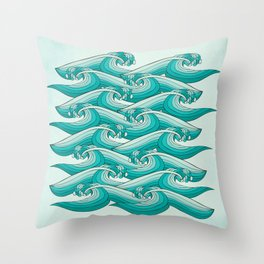 Ocean Vibes Throw Pillow