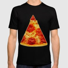 PIZZA Black SMALL Mens Fitted Tee