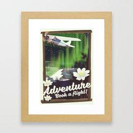 Adventure Book a Flight! Framed Art Print